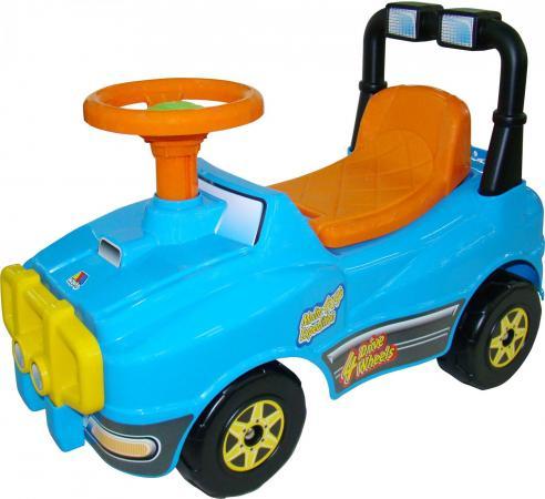 Каталка-машинка Полесье Джип №2 пластик от 1 года на колесах голубой полесье полесье каталка mig скутер