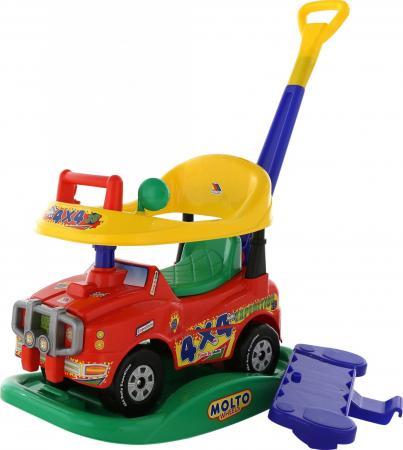 Каталка-машинка Полесье Джип Викинг пластик от 1 года с гудком красный каталка на шнурке mapacha божья коровка полесье от 1 года красный пластик на колесах