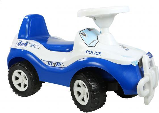 все цены на Каталка-машинка Orion Джипик 105_полиция от 2 лет на колесах бело-синий онлайн
