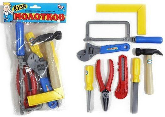 Набор инструментов Shantou Gepai Кузя Молотков 8 предметов игрушечные инструменты shantou gepai набор инструментов маленький мастер