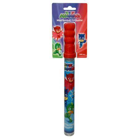 Мыльные пузыри Росмэн Волшебная палочка PJ Masks, 200 мл. мыльные пузыри peppa pig волшебная палочка 200 мл