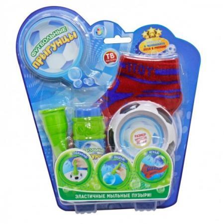 Мыльные пузыри 1Toy Футбольные Прыгунцы 80 мл размер носков 33-37 1toy мыльные пузыри футбольные прыгунцы цвет носков красный 80 мл