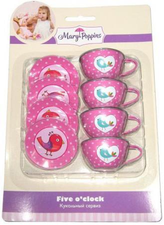 Набор посуды Mary Poppins Птички металлическая 8 предметов цена