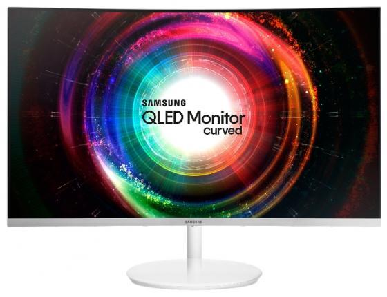 """Монитор 31"""" Samsung C32H711QEI белый серебристый VA 2560x1440 300 cd/m^2 4 ms HDMI Mini DisplayPort LC32H711QEIX/CI цена и фото"""