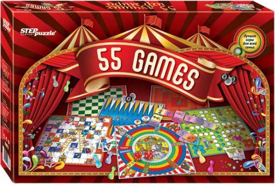 Настольная игра набор игр Step Puzzle 55 лучших игр мира 76073