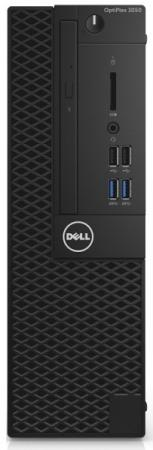 Системный блок DELL Optiplex 3050 SFF G4560 3.5GHz 4Gb 500Gb HD610 DVD-RW Win10Pro черный 3050-0399 системный блок lenovo s200 mt j3710 4gb 500gb dvd rw dos клавиатура мышь черный 10hq001fru