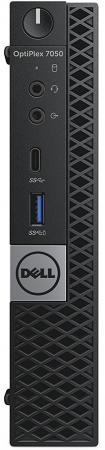 DELL Optiplex 7050 Micro, i7-7700T (2,9GHz),8GB (1x8GB) DDR4,500GB (7200 rpm),Intel HD 630,Linux,TPM,Wi-Fi / BT,3 years NBD системный блок dell optiplex 3050 sff i3 6100 3 7ghz 4gb 500gb hd620 dvd rw linux клавиатура мышь черный 3050 0405