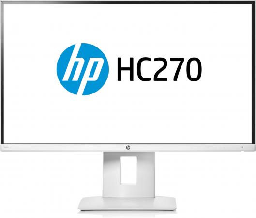 Монитор 27 HP HC270 QHD Healthcare Edition белый IPS 2560x1440 350 cd/m^2 14 ms DVI HDMI DisplayPort Mini DisplayPort USB монитор 27 hp z27n черный ips 2560x1440 350 cd m^2 8 ms dvi hdmi displayport mini displayport аудио usb k7c09a4