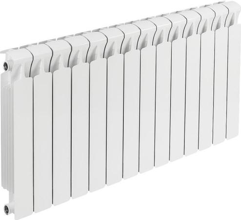Биметаллический радиатор Rifar Monolit 350 14 секций 1876Вт биметаллический радиатор rifar рифар b 500 нп 10 сек лев кол во секций 10 мощность вт 2040 подключение левое