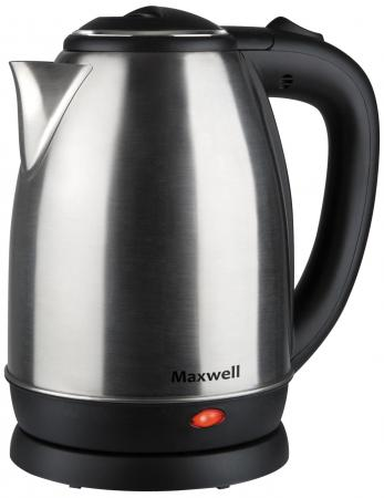Чайник Maxwell MW-1081 ST 1850 Вт чёрный 1.8 л металл maxwell mw 1081 st gray metallic электрический чайник