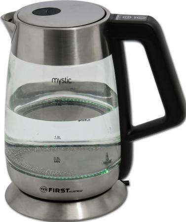 Чайник First 5406-7 2200 Вт серебристый 1.7 л металл/стекло чайник ves electric h 100 ss 2200 вт серебристый 1 7 л металл