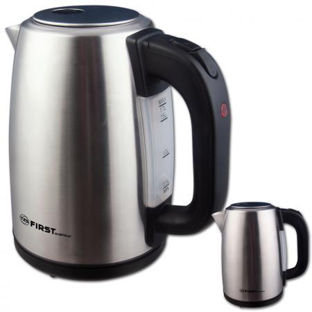Чайник First FA-5410-0 2200 Вт стальной 1.7 л нержавеющая сталь чайник kitchenaid kten20sbob чёрный 1 9 л нержавеющая сталь