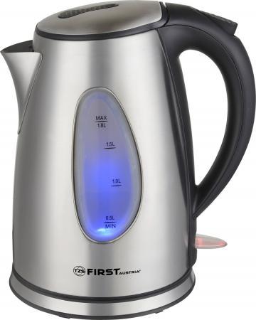 Чайник First FA-5410-7 2200 Вт стальной 1.8 л нержавеющая сталь чайник bosch twk7804 2200 вт красный 1 7 л нержавеющая сталь