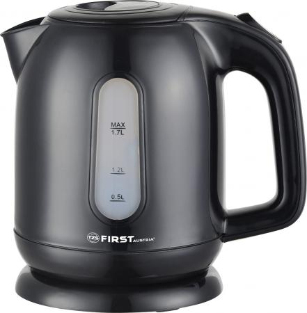 Чайник First 5427-5 2200 Вт чёрный 1.7 л пластик чайник first 5425 2 700 вт чёрный 0 5 л пластик
