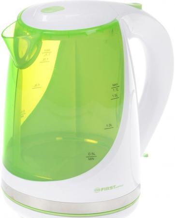 Чайник First FA-5427-8-GN 2200 Вт зелёный 1.7 л пластик цена и фото