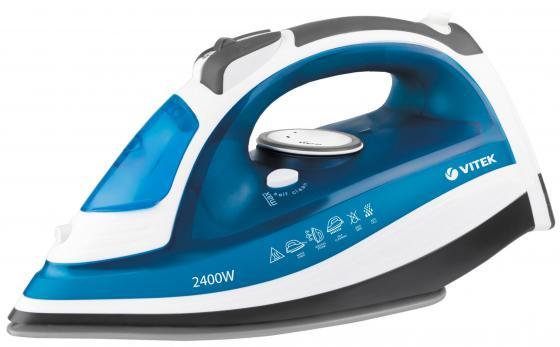 Утюг Vitek VT-1263 B 2400Вт синий белый утюг vitek vt 1266 b 2400вт голубой