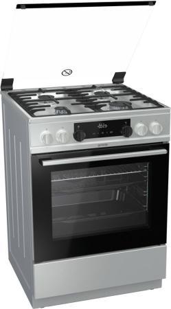 Комбинированная плита Gorenje K634XF серебристый цена и фото