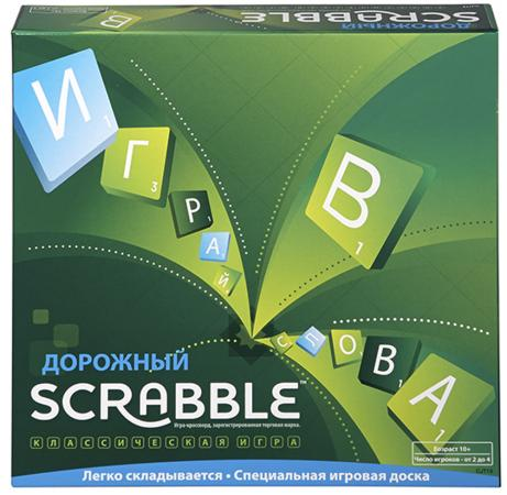 Настольная игра развивающая MATTEL Дорожный Scrabble CJT18