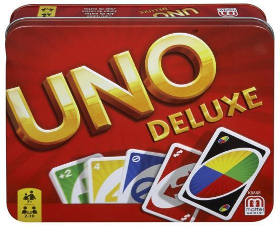 Настольная игра карточная MATTEL Uno Deluxe uno настольные игры карточная игра uno друзья семья картон мальчики подарок