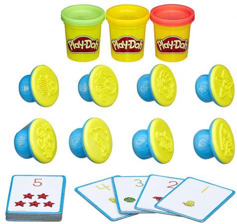 Набор для лепки HASBRO Цифры и числа 3 цвета hasbro play doh игровой набор из 3 цветов цвета в ассортименте с 2 лет