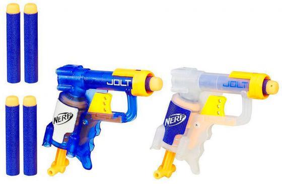 Бластер Hasbro НЁРФ - Джолт Элит цвет в ассортименте B5817 игрушечное оружие nerf hasbro n rebelle мини бластеры сладкая парочка 2 шт