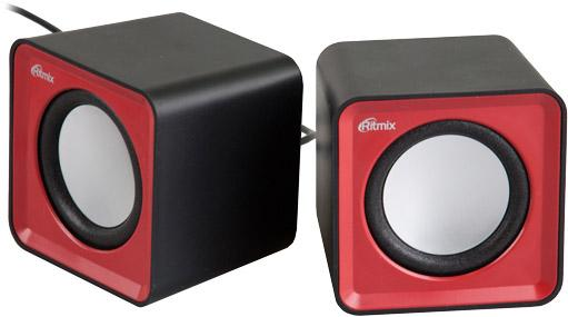 Колонки Ritmix SP-2020 2x2 Вт USB черно-красный ritmix ritmix rom 111 черный usb