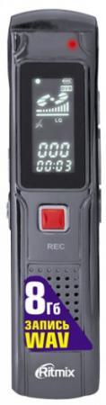 Цифровой диктофон Ritmix RR-110 8Гб черный