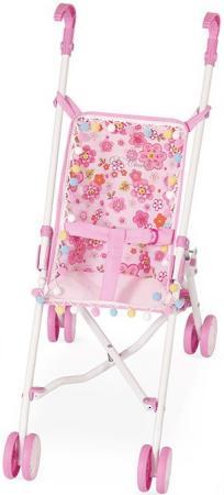 Коляска-трость для кукол DeCuevas розовые цветы 90097-3 невидимка для волос funny bunny розовые цветы 2 шт
