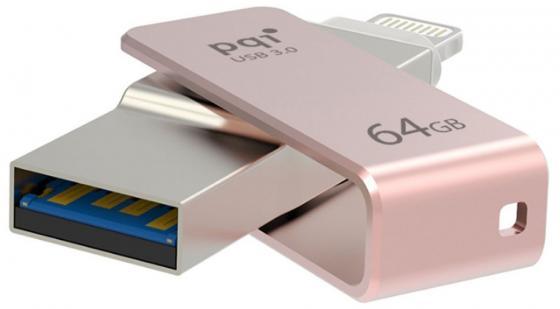 Флешка USB 64Gb PQI iConnect mini 6I04-064GR3003 розовый pqi iconnect mini 64gb золотой