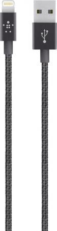 Кабель Lightning 1.2м Belkin Mixit круглый черный F8J144bt04-BLK