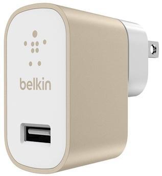 Сетевое зарядное устройство Belkin F8M731vfGLD 2.4А USB золотой зарядное устройство soalr 16800mah usb ipad iphone samsug usb dc 5v computure