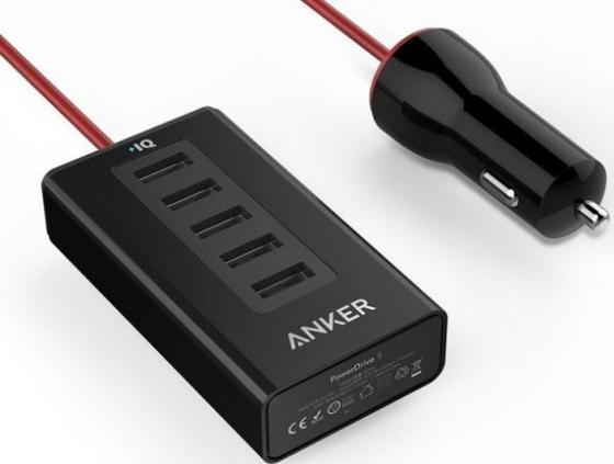 Автомобильное зарядное устройство ANKER A2311H12 2.4А USB черный