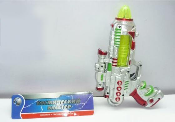 Бластер Shantou Gepai Космический бластер серебристый зеленый свет, звук бластер shantou gepai 775 a1 черный серебристый