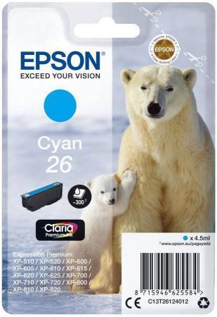 Фото - Картридж Epson C13T26124012 для Epson XP-600/700/800 голубой картридж epson 26 черный фото для xp 600 xp 700 xp 800