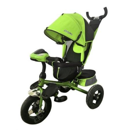 Велосипед трехколёсный Moby Kids Comfort-Ultra 12*/10* зеленый moby kids для прыжков со звуком красный