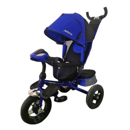 Велосипед трехколёсный Moby Kids Comfort-Ultra 12*/10* синий 635611 велосипед geuther велосипед sportsbike синий