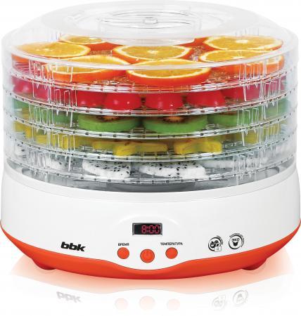 Сушилка для овощей и фруктов BBK BDH204D белый оранжевый аудиомагнитола bbk bs01 черный и белый