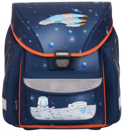 Ранец с анатомической спинкой Tiger Enterprise Ultra Collection Spaceship 20 л синий 1712/A/TG ранец школьный tiger scholar collection 38x34х21 см синий