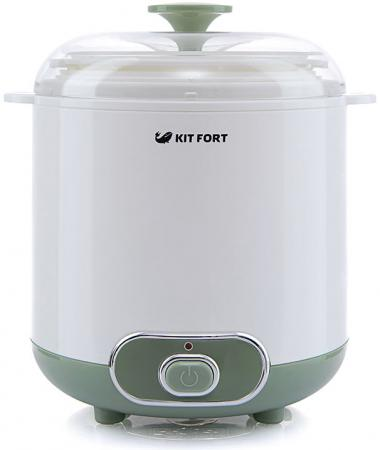 Йогуртница KITFORT KT-2005 белый зелёный йогуртница kitfort кт 2006
