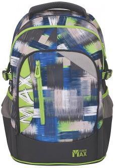 Школьный рюкзак с анатомической спинкой Tiger Enterprise MAX LIME GRUNGE 22 л серый 1750/A/TG