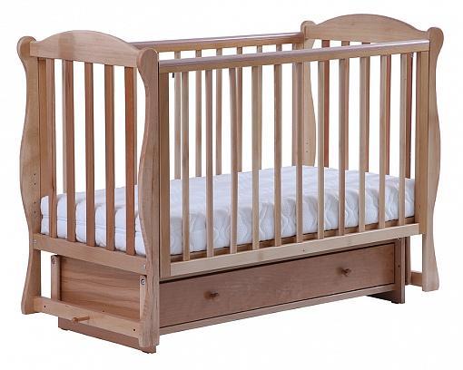 Кроватка с маятником Кубаночка-6 БИ 42.2 (натуральный бук)