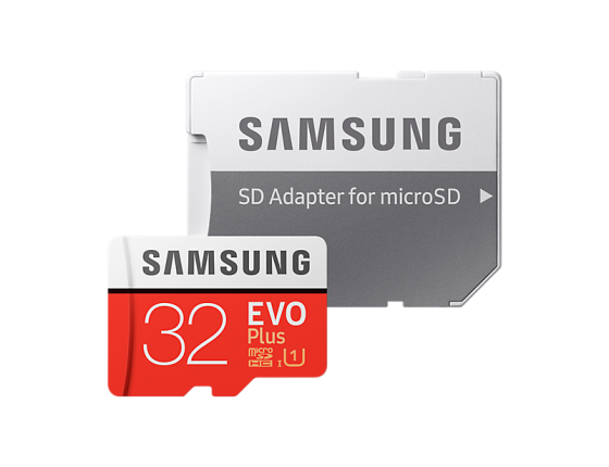 Карта памяти Micro SDHC 32Gb Class 10 Samsung EVO PLUS UHS-I U1 MB-MC32GA/RU + SD adapter samsung 32gb class 6 micro sdhc memory card w adapter mb ms08d