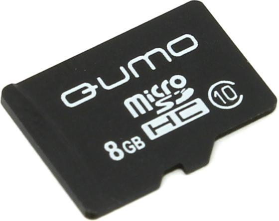 Карта памяти Micro SDHC 8Gb class 10 QUMO QM8GMICSDHC10NA карта памяти sdhc 32gb qumo class 10 qm32gsdhc10