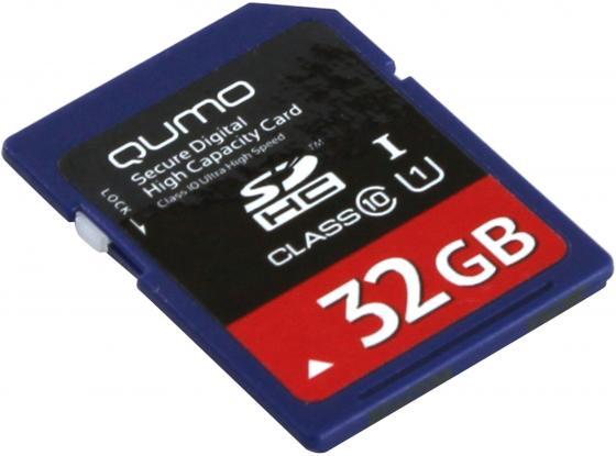 Карта памяти SDHC 32Gb class 10 QUMO QM32GSDHC10U1 карта памяти sdhc 32gb qumo class 10 qm32gsdhc10