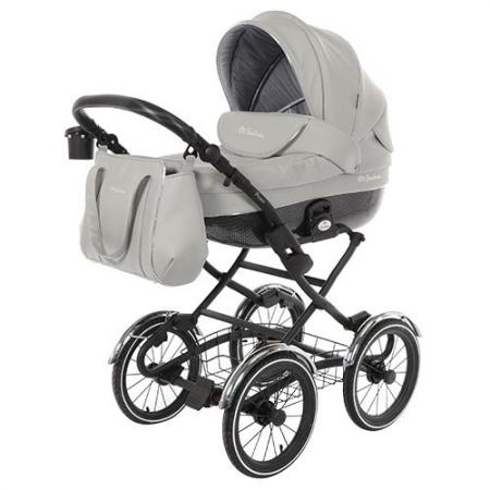 Коляска для новорожденного Mr Sandman Prima (100% кожа/серый) коляска mr sandman guardian 2 в 1 графит серый kmsg 043601