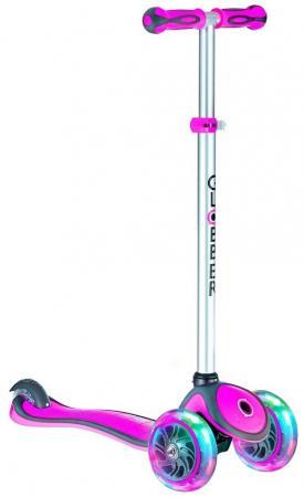 Самокат трехколёсный Y-SCOO GLOBBER PRIMO PLUS 442-114 (6653) 5/3 розовый размер 5 114 3 литые диски купить саратов