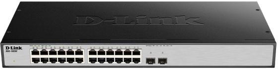 Коммутатор D-LINK DGS-1026X/A1A неуправляемый 24 порта 10/100/1000Mbps коммутатор d link dgs 3120 48tc b1ari