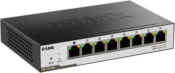 Коммутатор D-LINK DGS-1100-08PD/B1A управляемый 8 портов 10/100/1000Mbps dgs 1008p