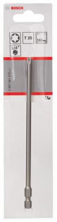 Бита Bosch TORX T25 XH 152мм 2607001670  бита torx t25 100 мм стандарт