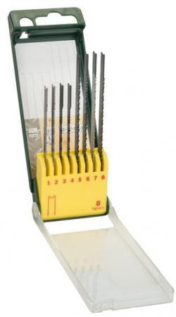 Лобзиковая пилка Bosch SET U-ХВ 8шт 2607019459 набор пильных полотен bosch set u хв 2609256774